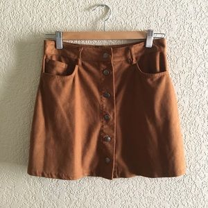 Dresses & Skirts - Camel Faux suede mini skirt